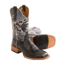 Cinch Honorable Cowboy Boots - Leather, Square Toe (For Men) in Glazed Marble Black - Closeouts