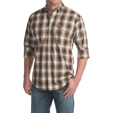 Cinch Plaid Woven Shirt - Button-Down Collar, Long Sleeve (For Men) in Brown - Closeouts