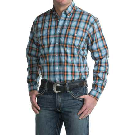 Cinch Woven Plaid Shirt - Long Sleeve (For Men) in Blue - Closeouts