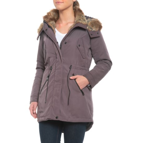 Image of Cinched-Waist Parka - Insulated (For Women)