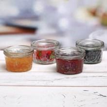 Circle Glass 12 oz. Jam Jars - Set of 4 in Honeybee - Overstock