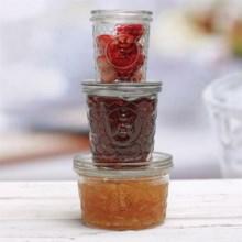 Circle Glass Jam Jars - Set of 3 in Honeybee - Overstock