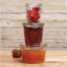 Circle Glass Jam Jars - Set of 3 in Rooster - Overstock