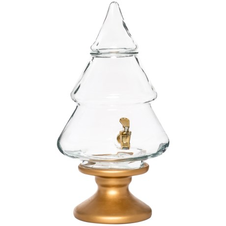 Circleware Christmas Tree Glass Beverage Dispenser - 2.1 Gallons in See Photo
