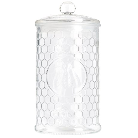 Circleware Honey Bee Glass Canister with Lid - 1.4 Liter