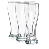 Circleware Long Beach Pilsner Weizen Beer Glasses - 23 fl.oz., Set of 4