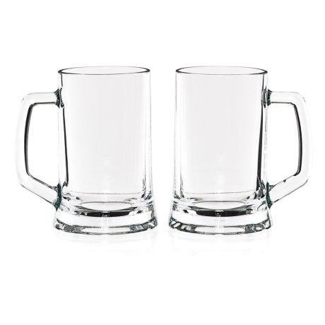 Circleware Tavern Glass Beer Mugs - 22 fl.oz., Set of 2 in See Photo