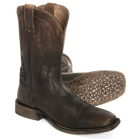 Image of Circuit Dayworker Cowboy Boots - 11? Square Toe (For Men)