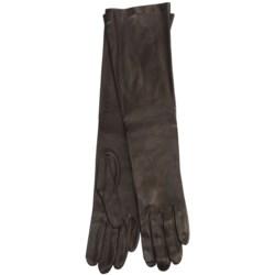 Cire by Grandoe Beauty Sheepskin Gloves - Silk Lining (For Women) in Brown