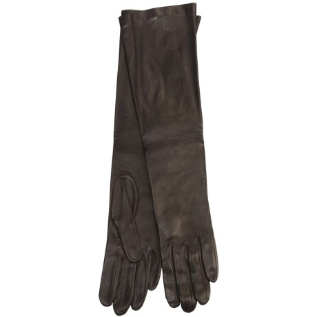 Cire by Grandoe Beauty Sheepskin Gloves - Silk Lining (For Women) in Brown