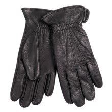 Cire by Grandoe Black Hawk Deerskin Gloves - Fleece Lined (For Men) in Black - Closeouts