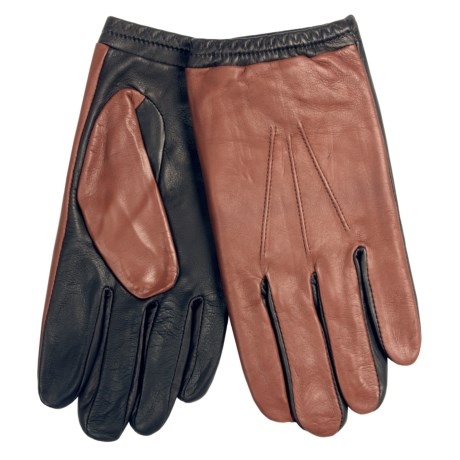 Cire by Grandoe Chaser Sheepskin Gloves (For Men) in Black/Acorn
