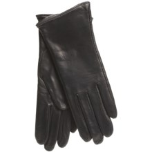 Cire by Grandoe Classique Gloves - Leather (For Women) in Black/Grasshopper - Closeouts