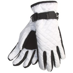 Cire by Grandoe Cuddles Insulated Gloves - Water Resistant in White