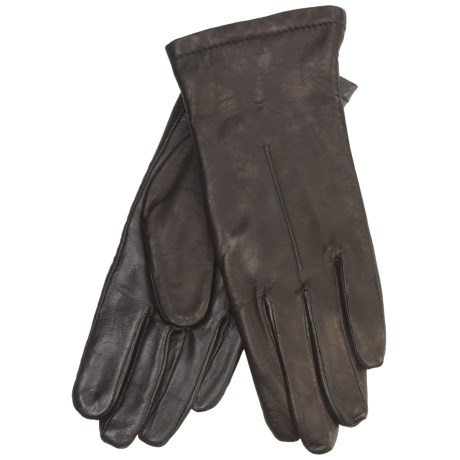 Cire by Grandoe Cupid Leather Touchscreen Gloves - Thinsulate® Lined (For Women) in Black