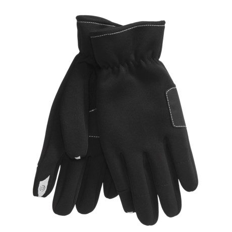 Cire by Grandoe Dou Tech Fleece Gloves - Vulcan Grip (For Men) in Black