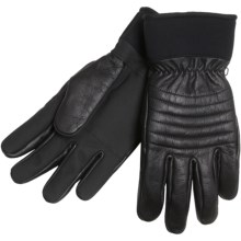 Cire by Grandoe Falcon Gloves - Leather, Lined (For Men) in Black - Closeouts