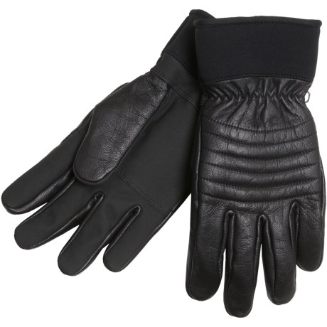 Cire by Grandoe Falcon Gloves - Leather, Lined (For Men) in Black