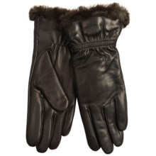 Cire by Grandoe Glory Gloves - Faux Shearling Cuff, Pile Lining (For Women) in Brown/Brown - Closeouts