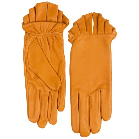 Cire by Grandoe Grace Gloves - Sheepskin (For Women) in Goldenrod