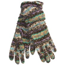 Cire by Grandoe Homespun Cozee Gloves - Aloe Infused (For Women) in Lavender - Closeouts