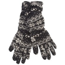 Cire by Grandoe Homespun Cozee Gloves - Aloe Infused (For Women) in Snowflake - Closeouts