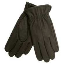 Cire by Grandoe Jackeroo Pebbled Deerskin Gloves - Microfleece Lining (For Men) in Black - Closeouts