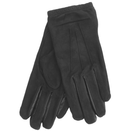Cire by Grandoe Jackie Sheepskin Suede Gloves (For Women) in Copper/Black