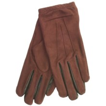 Cire by Grandoe Jackie Sheepskin Suede Gloves (For Women) in Copper/Black - Closeouts