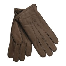Cire by Grandoe Jackson Premium Sheepskin Leather Gloves - Micropile Lining (For Men) in Brown - Closeouts