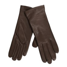Cire by Grandoe Melody Gloves - Italian Leather-Cashmere (For Women) in Brown - Closeouts