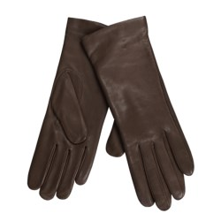 Cire by Grandoe Melody Gloves - Italian Leather-Cashmere (For Women) in Brown