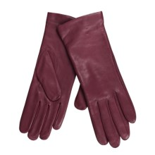 Cire by Grandoe Melody Gloves - Premium Sheepskin-Cashmere (For Women) in Raspberry - Closeouts