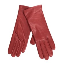 Cire by Grandoe Melody Gloves - Premium Sheepskin-Cashmere (For Women) in True Red - Closeouts