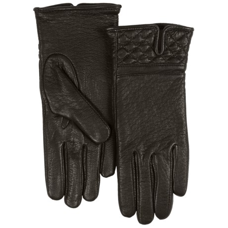 Cire by Grandoe Peroia Gloves - Deerskin (For Women) in Black