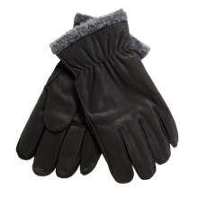 Cire by Grandoe Pilot II Gloves - Sheepskin Leather, Fleece Lining (For Men) in Black/Grey - Closeouts