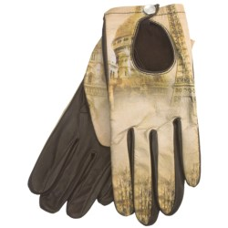 Cire by Grandoe Prelude Sheepskin Gloves (For Women) in Paris/Brown