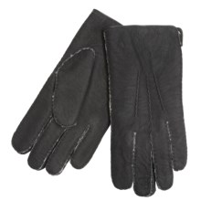 Cire by Grandoe Redford Gloves - Curly Lamb Shearling (For Men) in Black - Closeouts