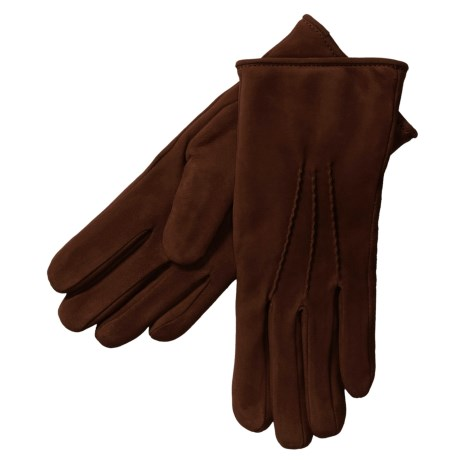 Cire by Grandoe Scenic Gloves - Waterblock Suede (For Women) in Brown