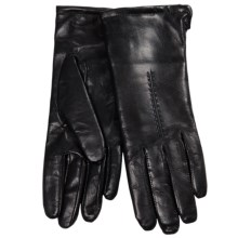 Cire by Grandoe Sensor Touch Leather Gloves (For Women) in Black - Closeouts
