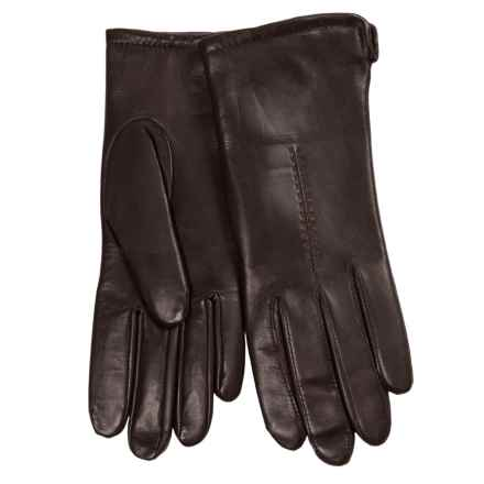 Cire by Grandoe Sensor Touch Leather Gloves (For Women) in Brown - Closeouts