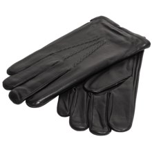 Cire by Grandoe Sparta Sheepskin Gloves - Cashmere-Lambswool Lined (For Big Men) in Black - Closeouts