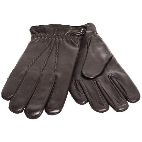 Cire by Grandoe Spirit Sheepskin Gloves - Cashmere-Lambswool Lining (For Men) in Black/Black