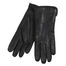 Cire by Grandoe Traveler Gloves - Premium Sheepskin Leather (For Women) in Black/Violet - Closeouts