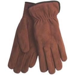 Cire by Grandoe Weekend Gloves - Sheepskin Suede (For Women) in Red