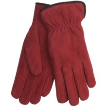 Cire by Grandoe Weekender Gloves - Sheepskin Suede (For Women) in Red - Closeouts