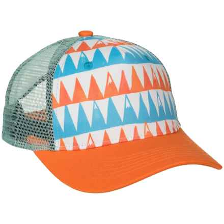 Cirque Big Peaks Baseball Cap (For Youth) in Orange/Blue - Closeouts