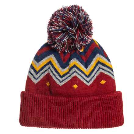 805de45a021 Cirque Printed Pom Hat (For Little Kids) in Burgundy - Closeouts