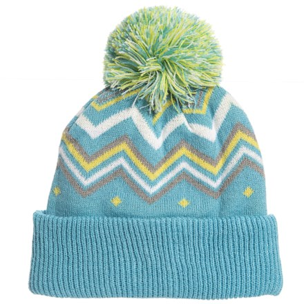 05951cad37b Cirque Printed Pom Hat (For Little Kids) in Light Blue - Closeouts