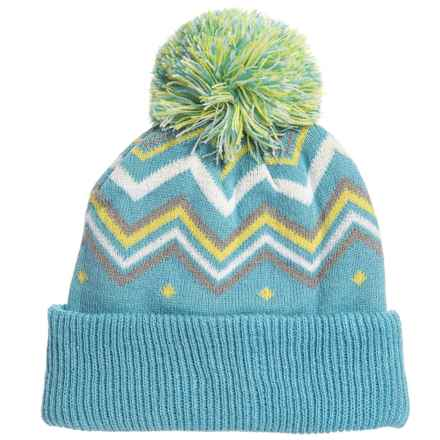 ecf467e619c Cirque Printed Pom Hat (For Little Kids) in Light Blue - Closeouts